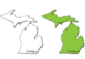 286x200 Great Lakes Michigan Free Vector Art