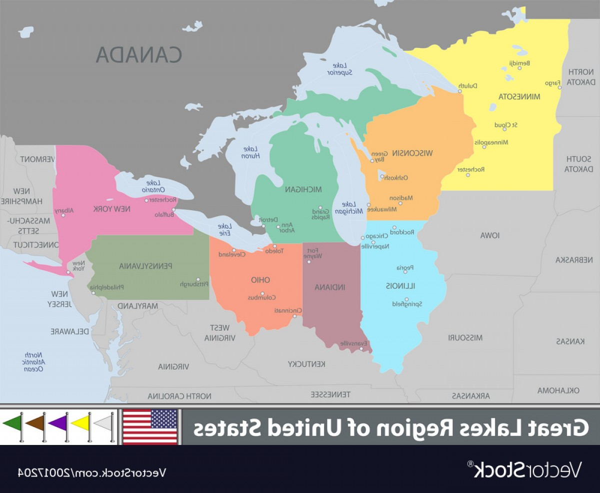 1200x985 Great Lakes Region Of United States Vector Lazttweet