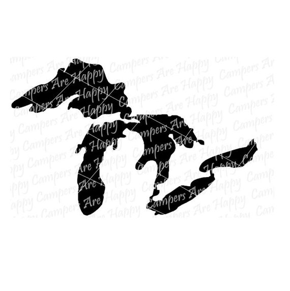 570x572 Great Lakes Svg Dxf Png Pdf Jpeg Files Great Lakes Vector Etsy