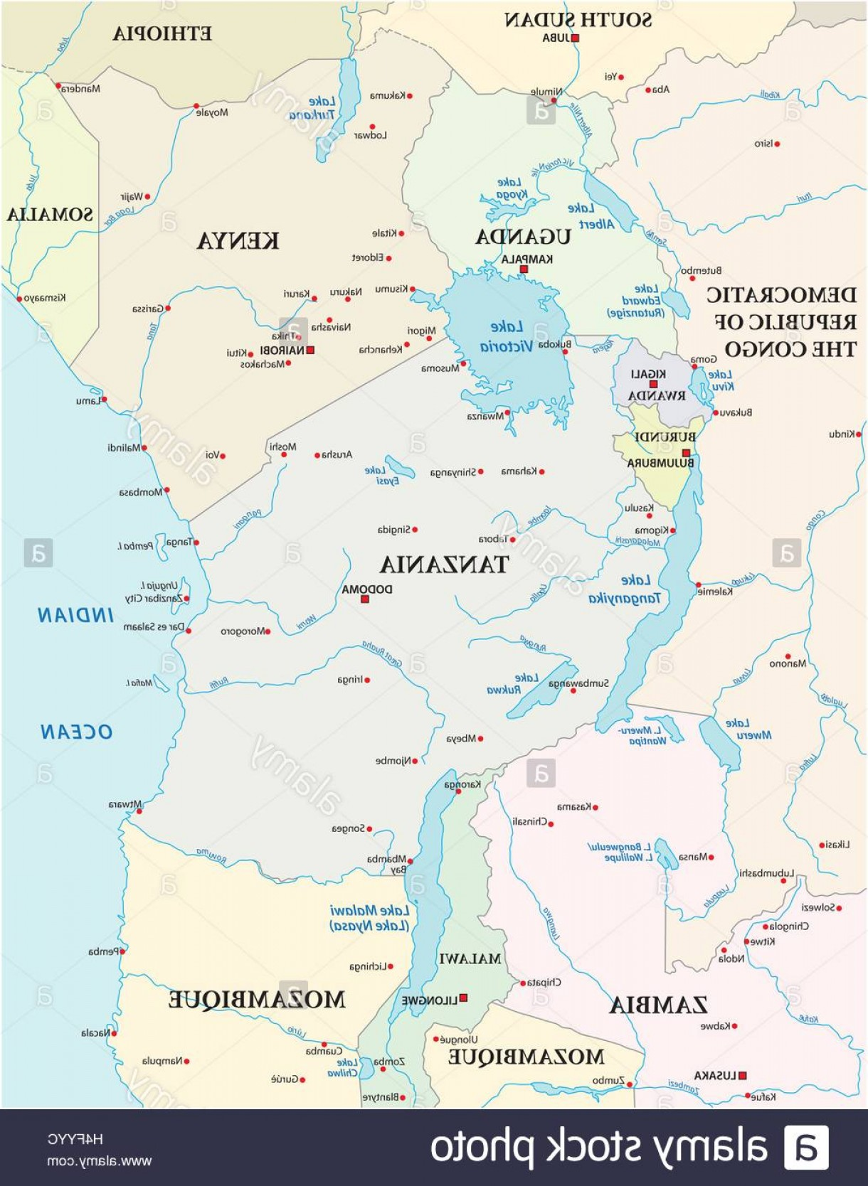 1220x1668 Stock Photo Map Of The African Great Lakes Orangiausa