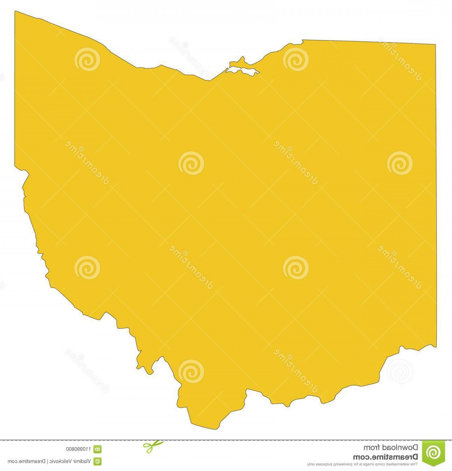 1560x1628 Vector File Ohio Map Midwestern State Great Lakes Region United