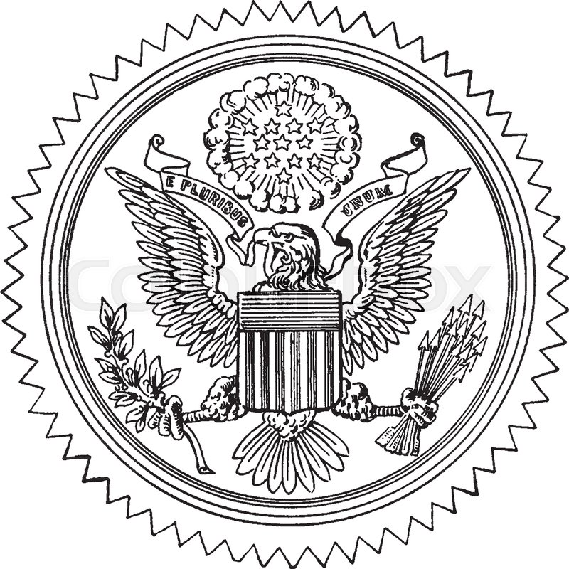 800x800 The Great Seal Of The United States, This Circle Shape Seal Has