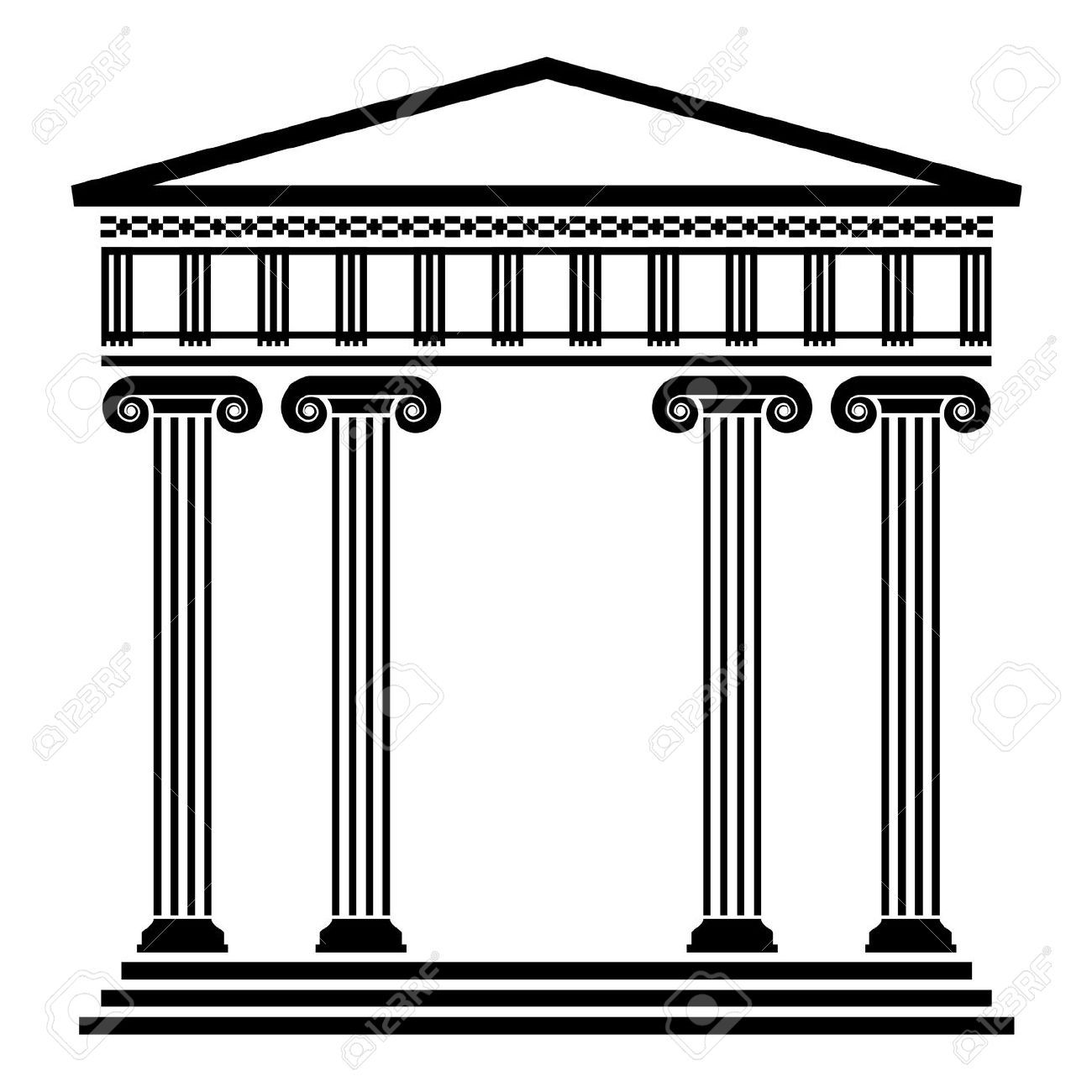 Greek Column Vector Free Download
