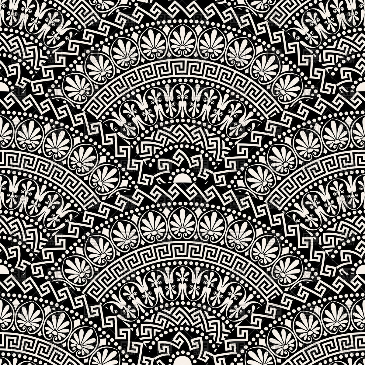 1200x1200 Traditional Seamless Vintage Gray Greek Pattern
