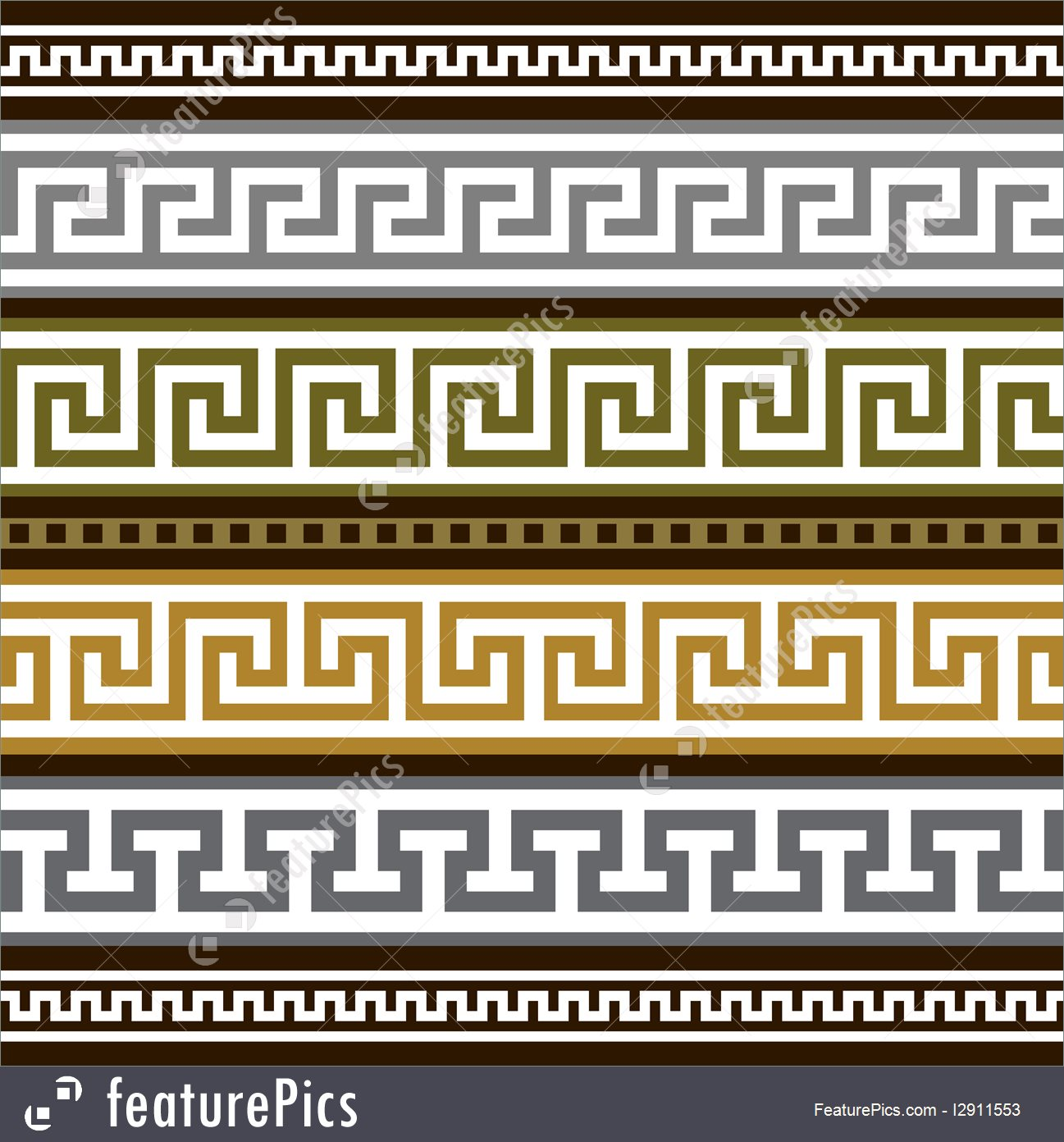 1297x1392 Abstract Patterns Set Of Vector Greek Borders