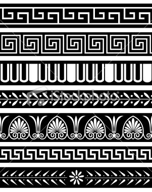 301x380 Antique Greece Style Borders. Repeat Seamlessly. Mediterannean