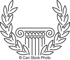 Greek Pillar Vector
