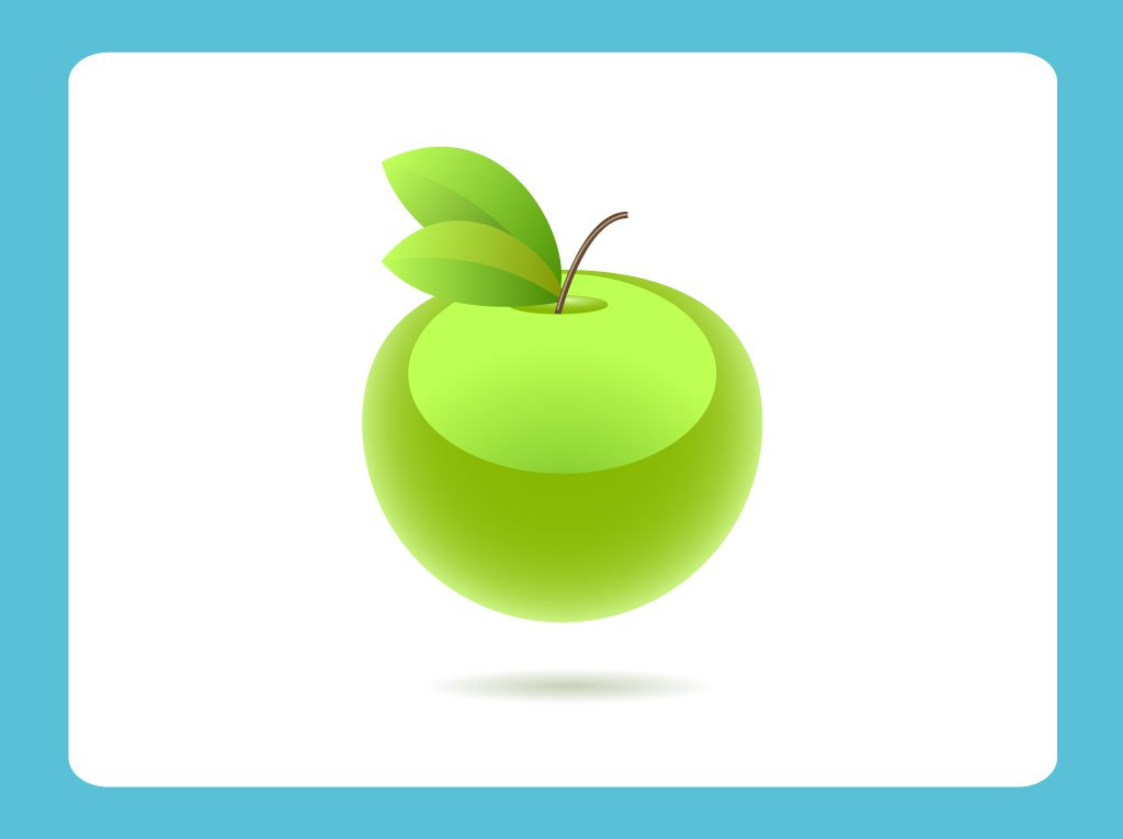1024x765 Green Apple Vector Art Amp Graphics