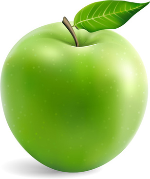 308x368 Green Apple Free Vector Download (7,633 Free Vector) For
