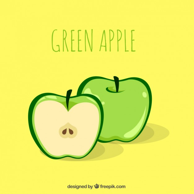 626x626 Green Apple Illustration Vector Premium Download