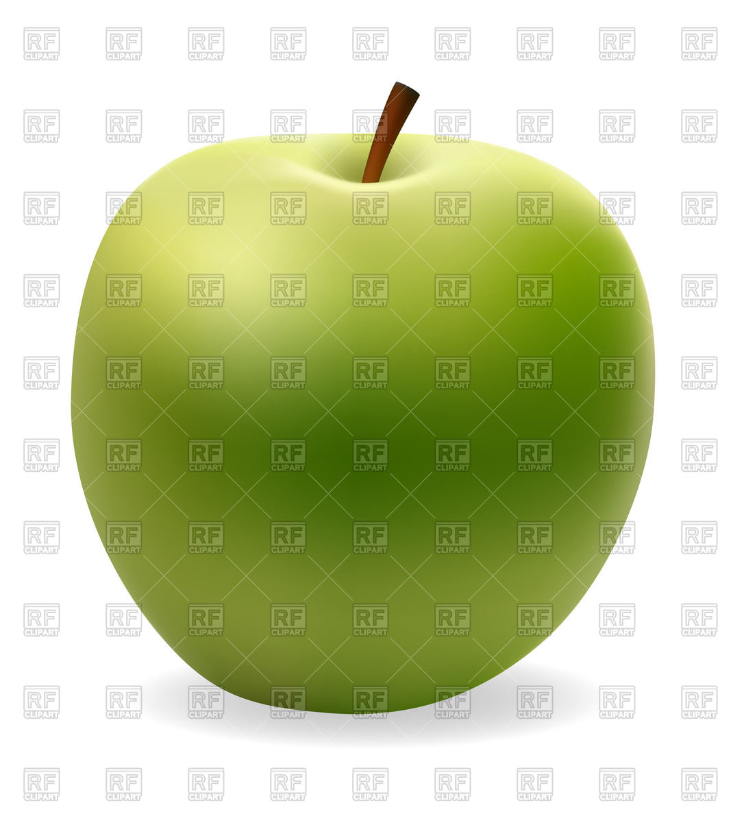 1086x1200 Realistic Green Apple Vector Image Vector Artwork Of Food And