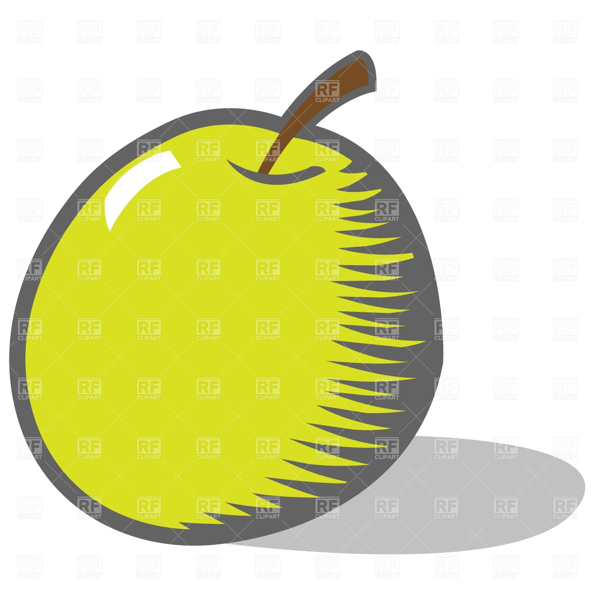 1200x1200 Cartoon Green Apple Vector Image Vector Artwork Of Food And