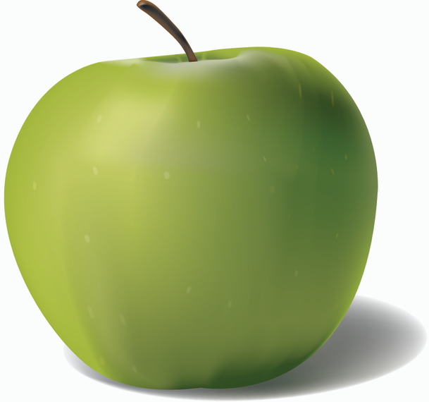 609x570 Vector Green Apple