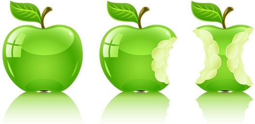 527x256 Vector Green Apple Free Vector In Encapsulated Postscript Eps