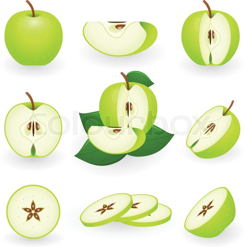 794x800 Vector Illustration Of Green Apple Stock Vector Colourbox