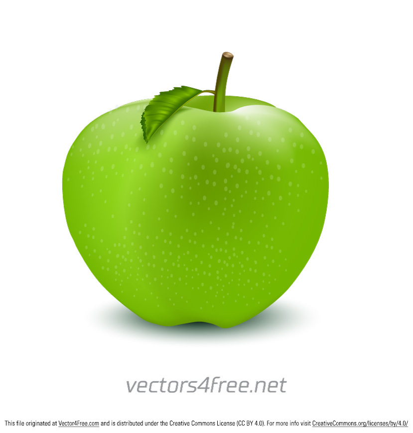829x869 Free Green Apple Vector