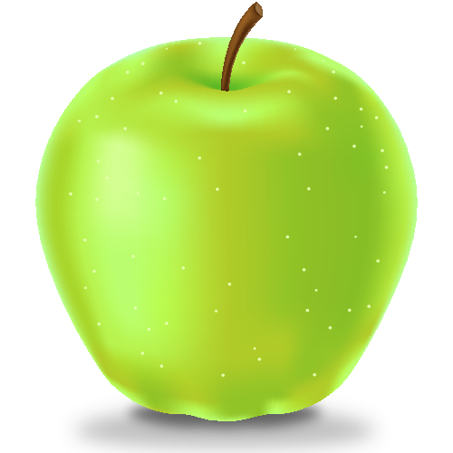 500x500 Green Apple Icon(Fruits) Svg(Vector)public Domain Icon Park