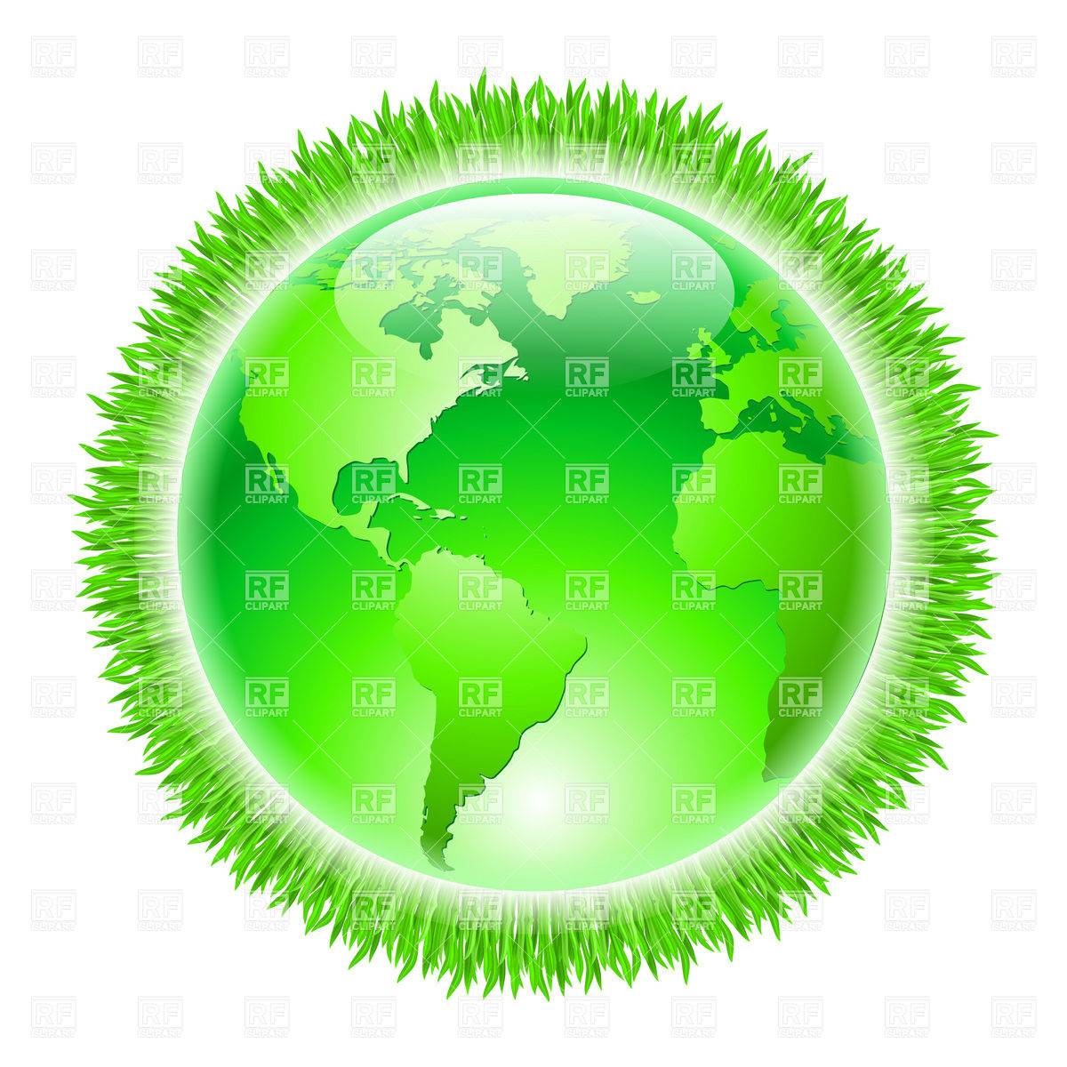 1200x1200 Green Earth With Grass Halo Vector Image Vector Artwork Of Icons