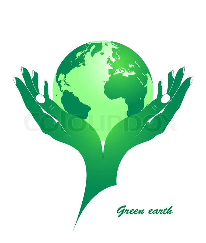 678x800 Green Earth In Female Hands Stock Vector Colourbox