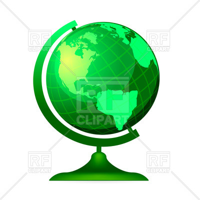 400x400 Green Globe Vector Image Vector Artwork Of Objects Sermax55