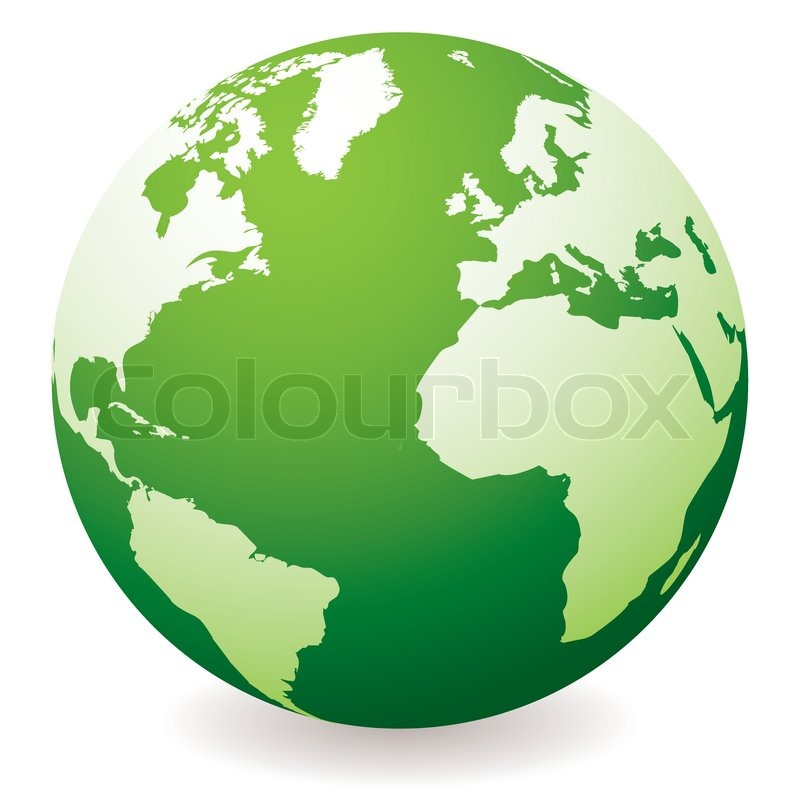 800x800 Green Planet Earth Showing A Green Globe With Drop Shadow Stock