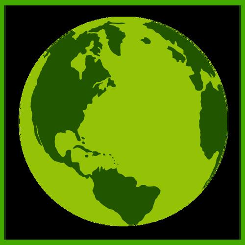 500x500 Eco Earth Vector Icon Public Domain Vectors