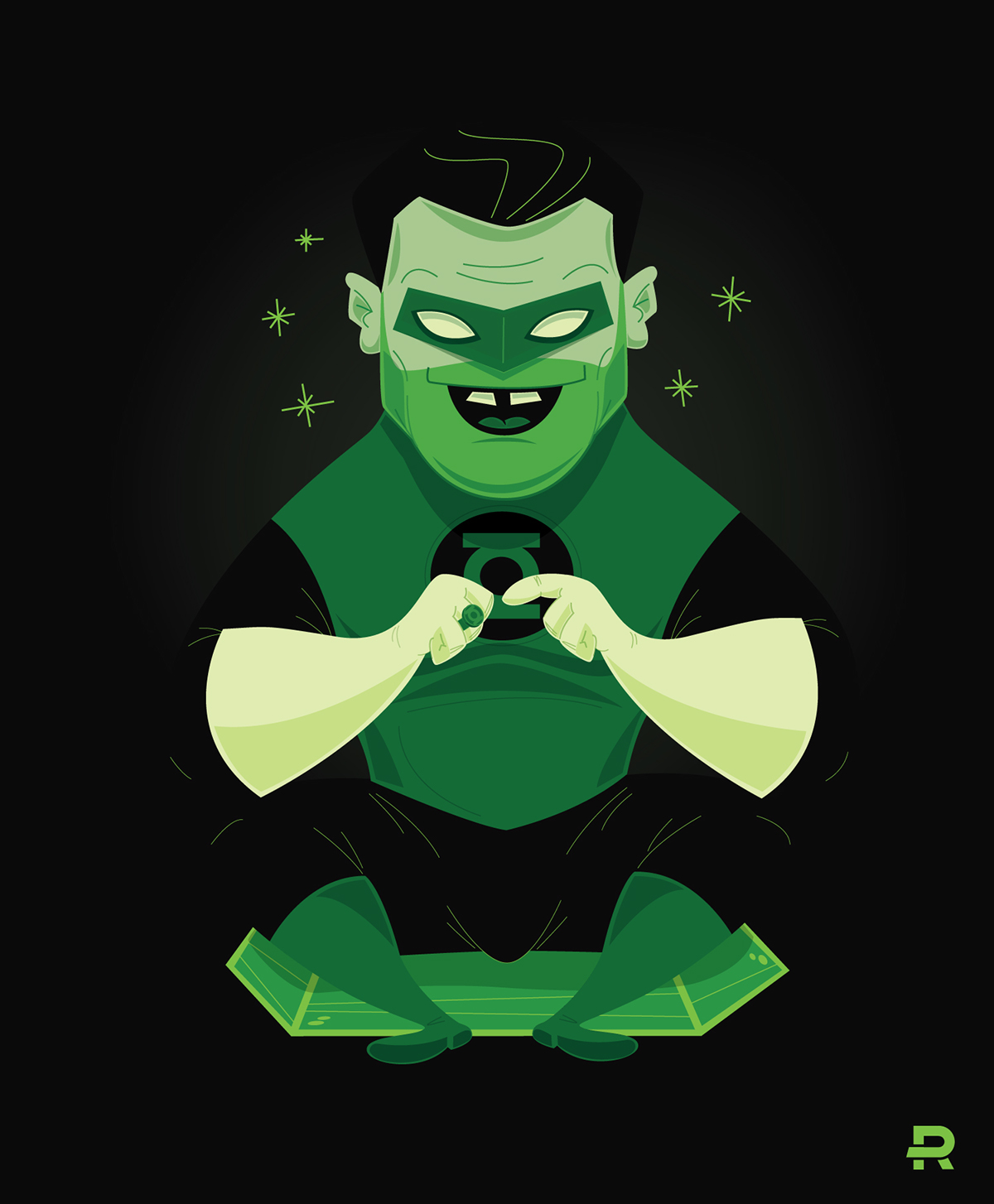 1200x1454 Green Lantern Vector On Behance