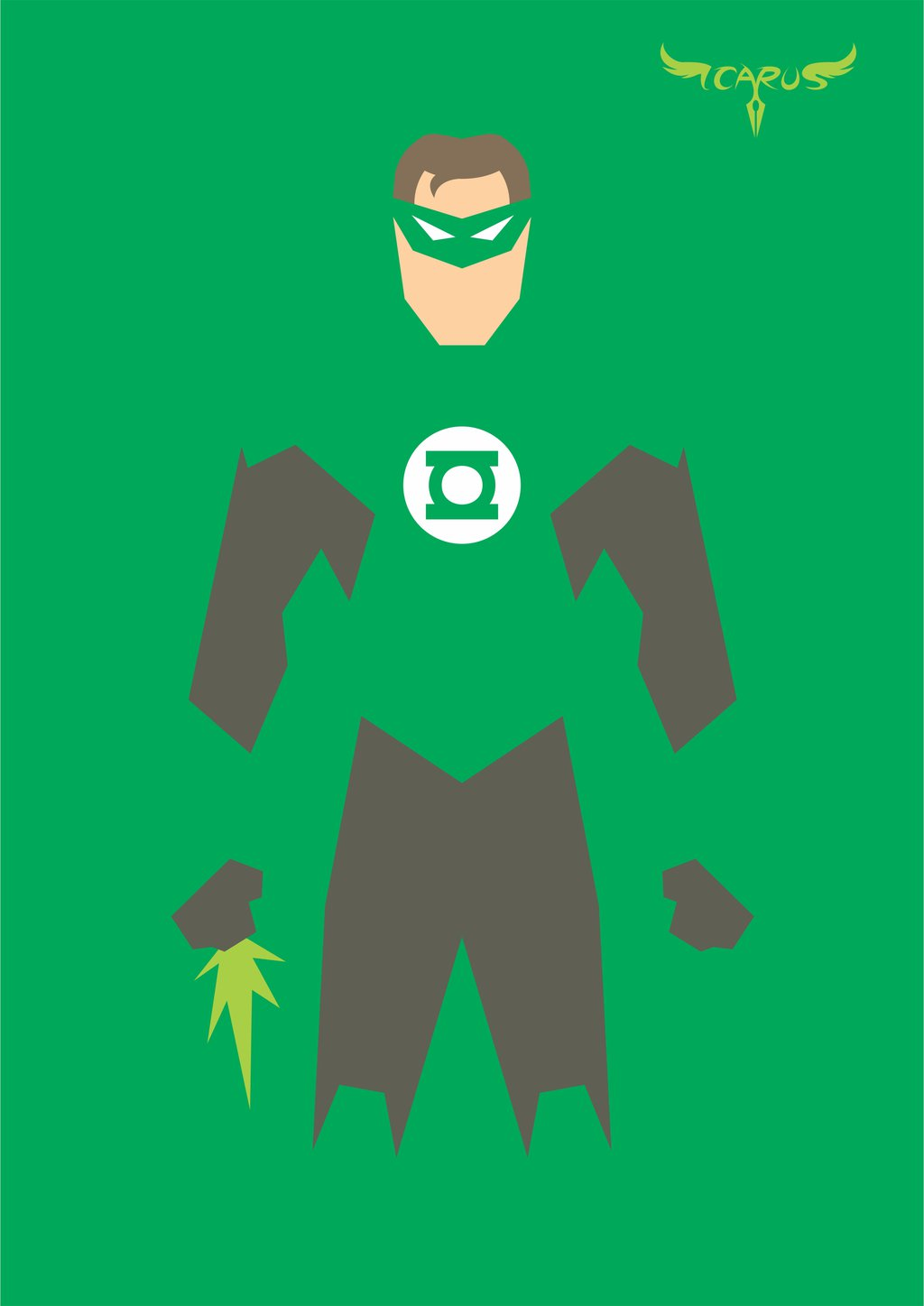 1024x1447 Minimalist Green Lantern By Elchavoman