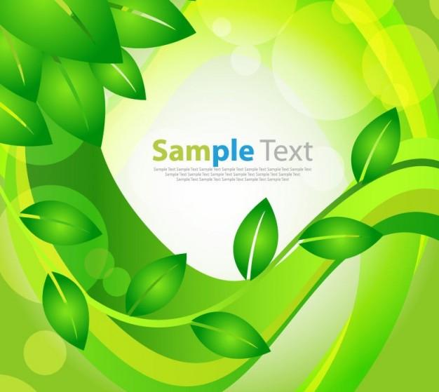 Green Leaf Background Vector