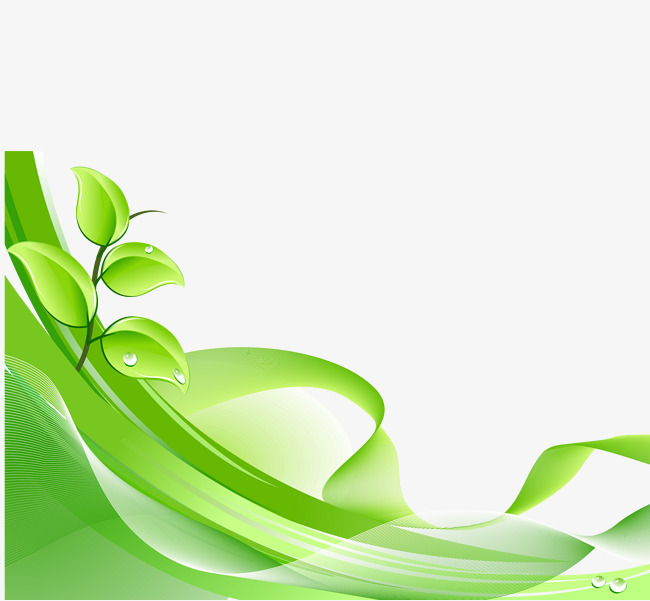 650x601 Green Leaves Background Vector Dynamic Material, Dynamic Green