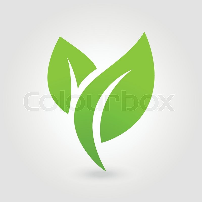 800x800 Abstract Leafs Care Vector Logo Icon. Eco Icon With Green Leaf