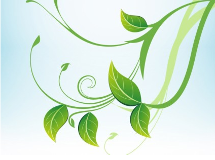 424x316 Green Leaves Vector Graphic Ai,eps Format Free Vector Download