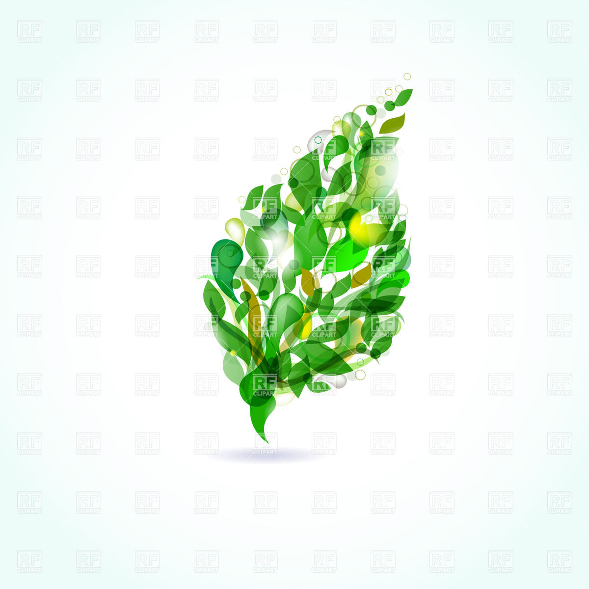 1200x1200 Abstract Ornate Green Leaf Vector Image Vector Artwork Of Plants