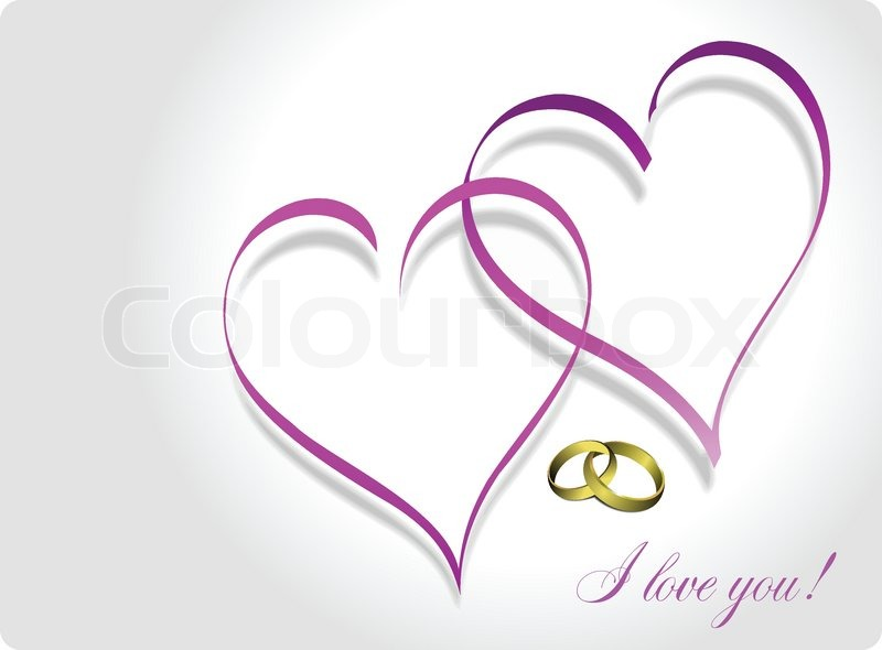 800x590 Valentine`s Day Greeting Card. Wedding Greeting Card. Vector