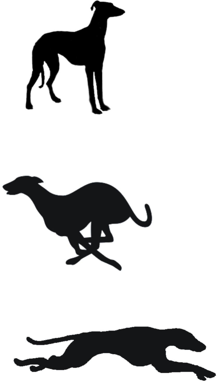 842x1471 Greyhound Clip Art