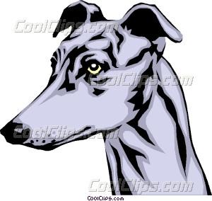 300x284 Greyhound Vector Clip Art