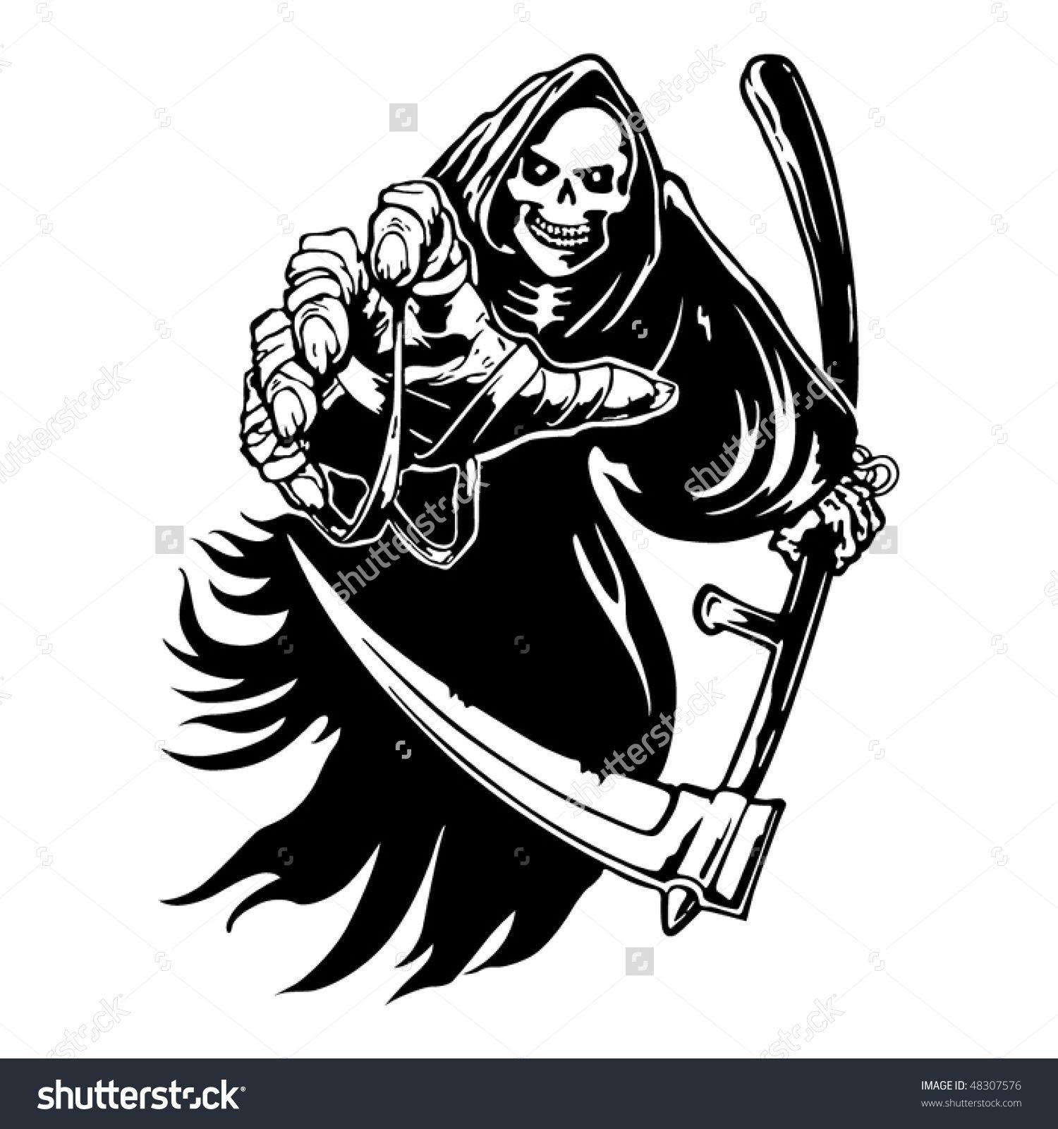 1500x1600 Grim Reaper Stock Vectors Amp Vector Clip Art Shutterstock