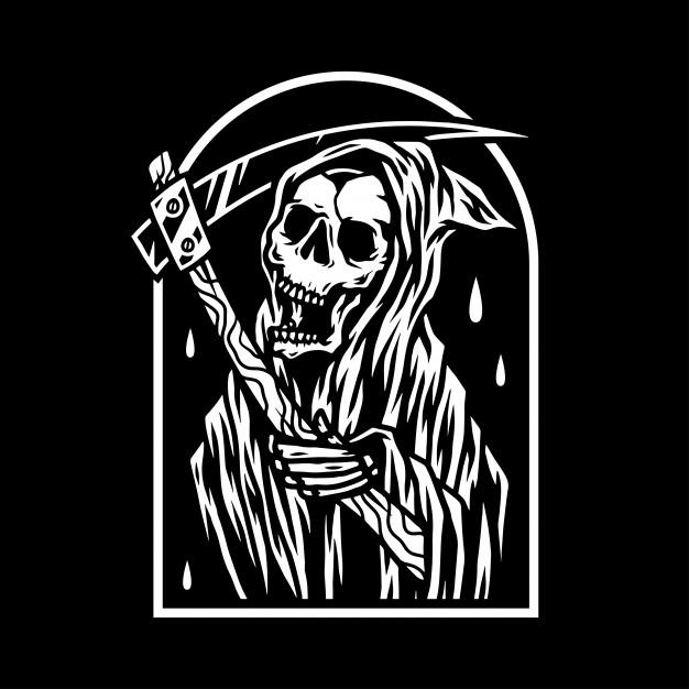 626x626 Grim Reaper Vector Premium Download