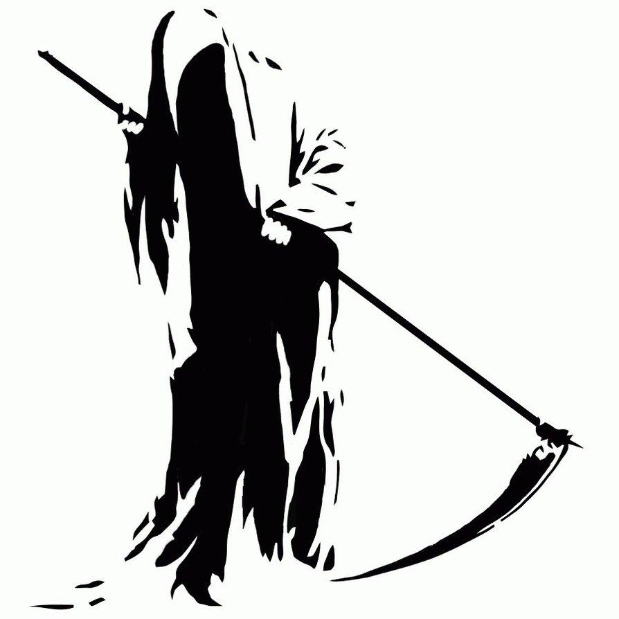 894x894 Grim Reaper Clipart Vector