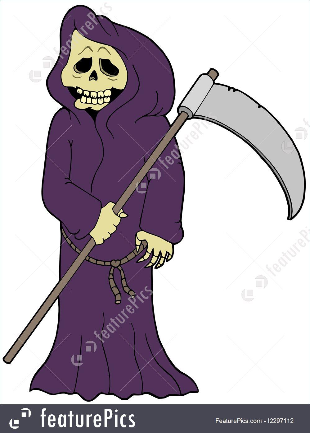 999x1392 Cartoon Grim Reaper Illustration