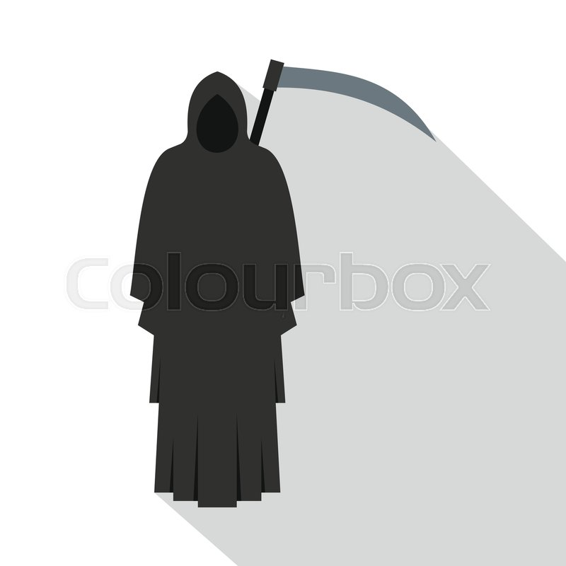 800x800 Grim Reaper Icon. Flat Illustration Of Grim Reaper Vector Icon For