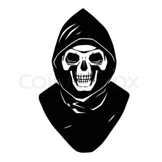 320x320 Illustration Of Cute Cartoon Grim Reaper With Scythe Stock