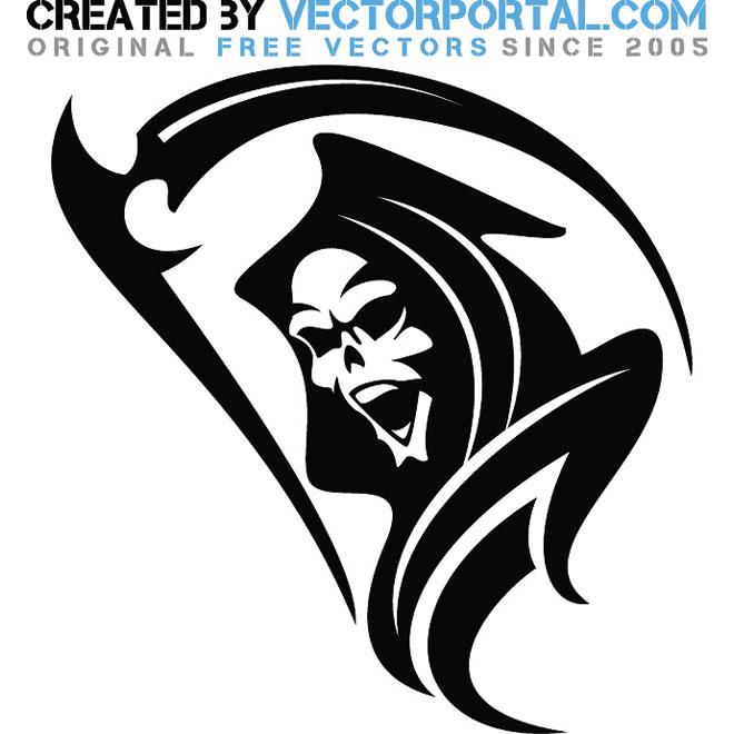 660x660 Death Grim Reaper Graphics Free Vector 123freevectors
