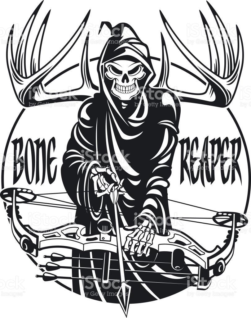 810x1024 Drawn Grim Reaper Vector
