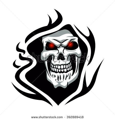 450x470 Grim Reaper Clipart Tribal
