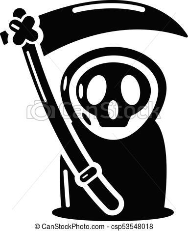 384x470 Grim Reaper Icon, Simple Black Style. Grim Reaper Icon. Simple