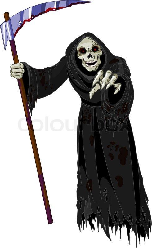 490x800 Halloween Horrible Grim Reaper Stock Vector Colourbox