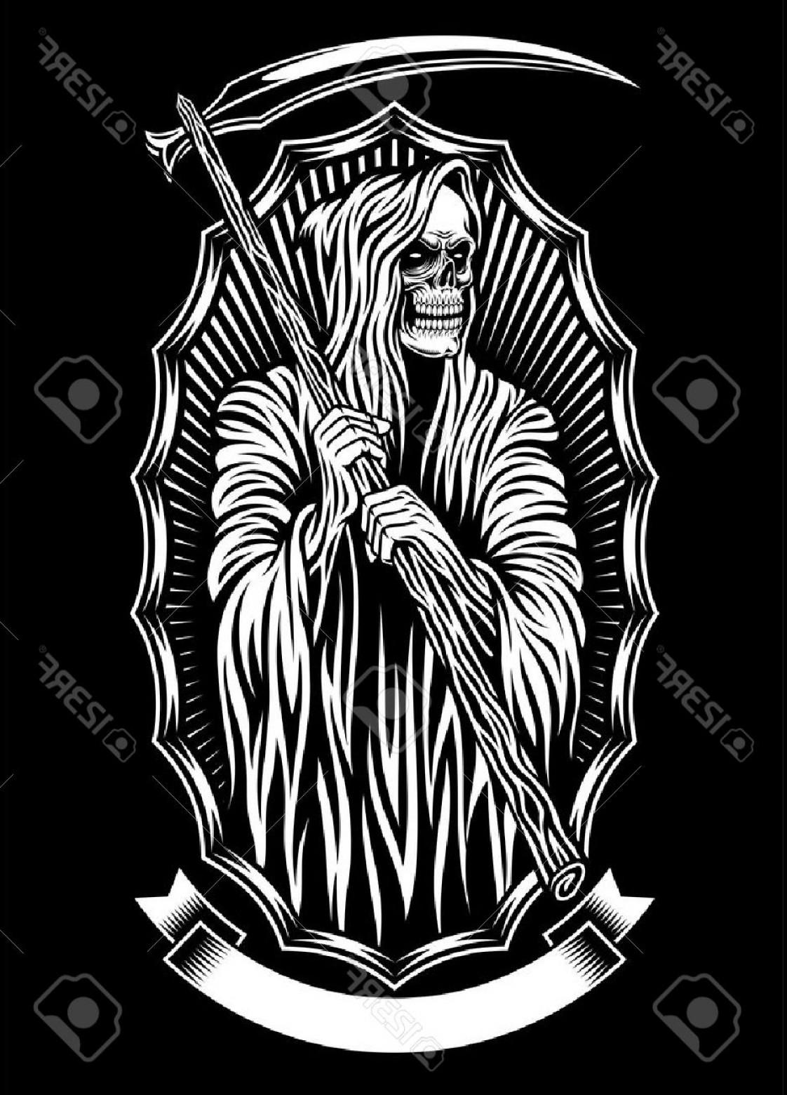 1122x1560 Photostock Vector Grim Reaper Vector Art Shopatcloth