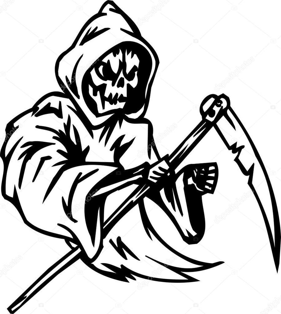 900x1005 Download Grim Reaper Vector Clipart Death Clip Art Illustration