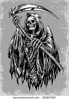 236x340 Download Free Grim Reaper Tattoos 48 Horrifying Grim Reaper Tattoo